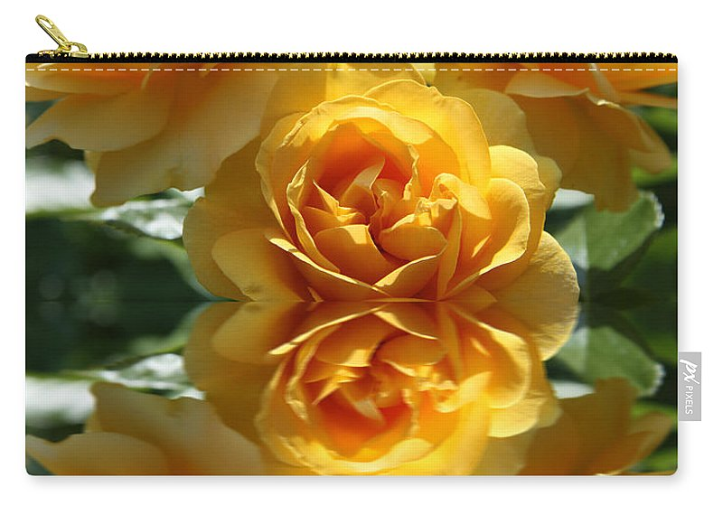 Rose Carry-all Pouch featuring the photograph Reflective Prettiness by Christiane Schulze Art And Photography