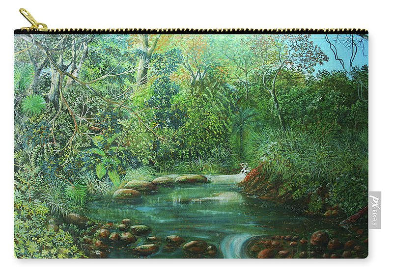 Paisaje De Panama Carry-all Pouch featuring the painting Reflejo Sereno by Ricardo Sanchez Beitia