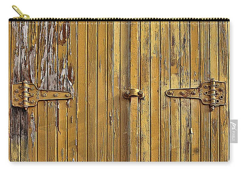 Transportation Carry-all Pouch featuring the photograph Refrigerated Boxcar Door by Marcia Colelli