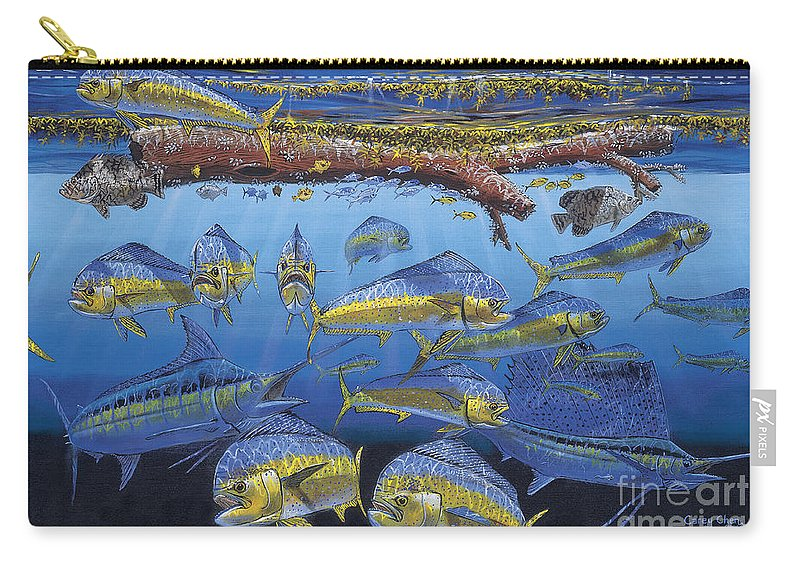 Fish Carry-all Pouch featuring the painting Refuge Off00110 by Carey Chen