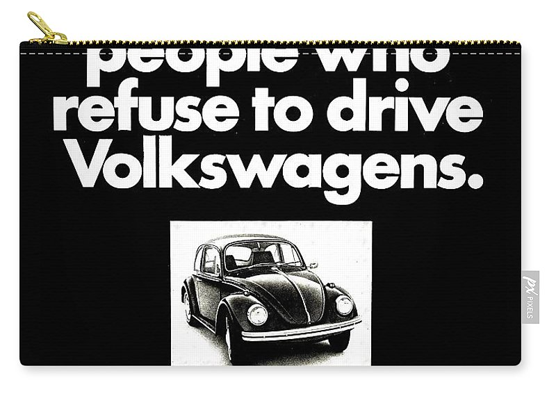 Volkswagen Carry-all Pouch featuring the photograph Refusers by Benjamin Yeager