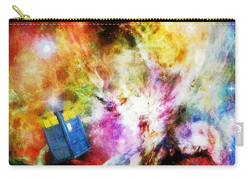 Tardis Carry-all Pouch featuring the painting Regeneration by Sandy MacGowan