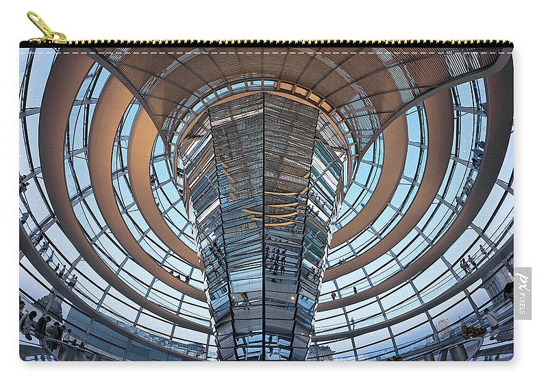 Norman Foster Carry-all Pouch featuring the photograph Reichstag, Dome At Dusk by Siegfried Layda