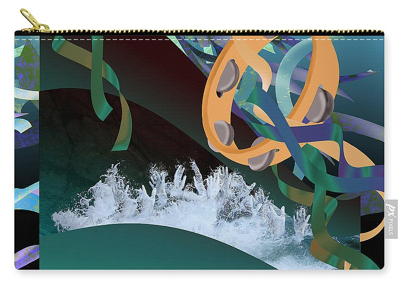 Jennifer Carry-all Pouch featuring the digital art Rejoice In The River by Jennifer Kathleen Phillips