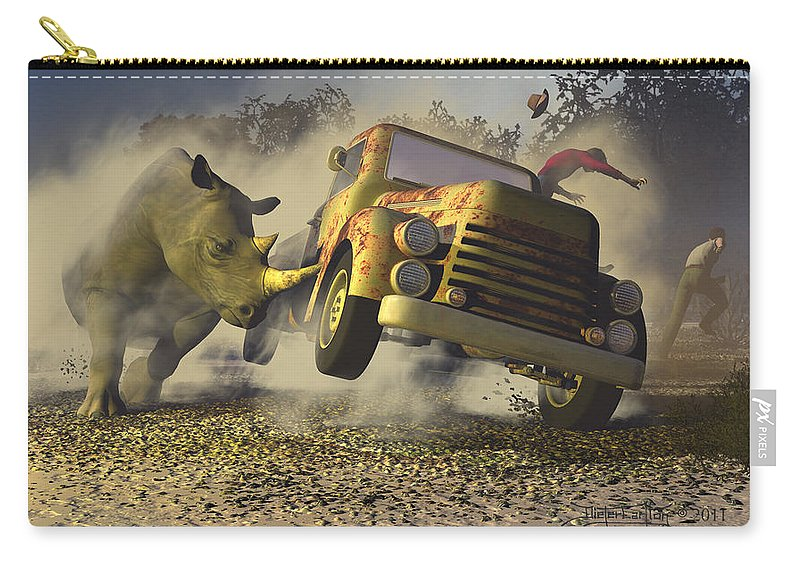 Dieter Carlton Carry-all Pouch featuring the digital art Relative Mass by Dieter Carlton