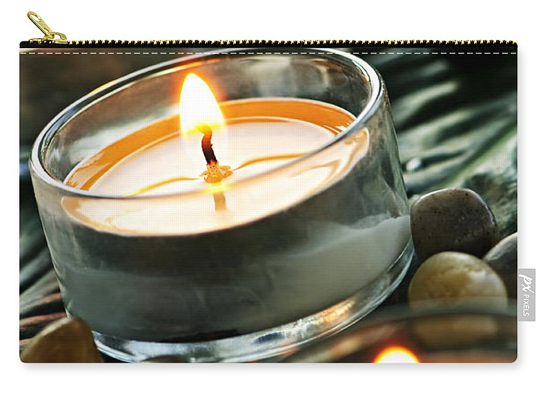Candles Carry-all Pouch featuring the photograph Relax by Elena Elisseeva