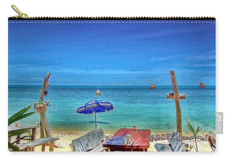 Michelle Meenawong Carry-all Pouch featuring the photograph Relax On The Beach by Michelle Meenawong