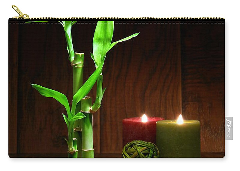 Bamboo Carry-all Pouch featuring the photograph Relaxation And Meditation by Olivier Le Queinec