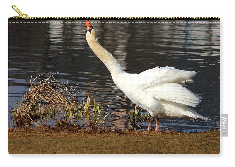 Movement Carry-all Pouch featuring the photograph Relaxed Swan by Heike Hultsch