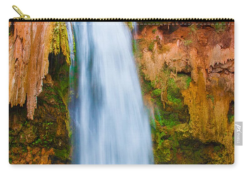 Arizona Carry-all Pouch featuring the photograph Relaxing Falls by Nicholas Pappagallo Jr