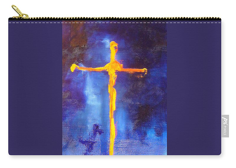 Blue Carry-all Pouch featuring the painting Religion by Lord Frederick Lyle Morris - Disabled Veteran