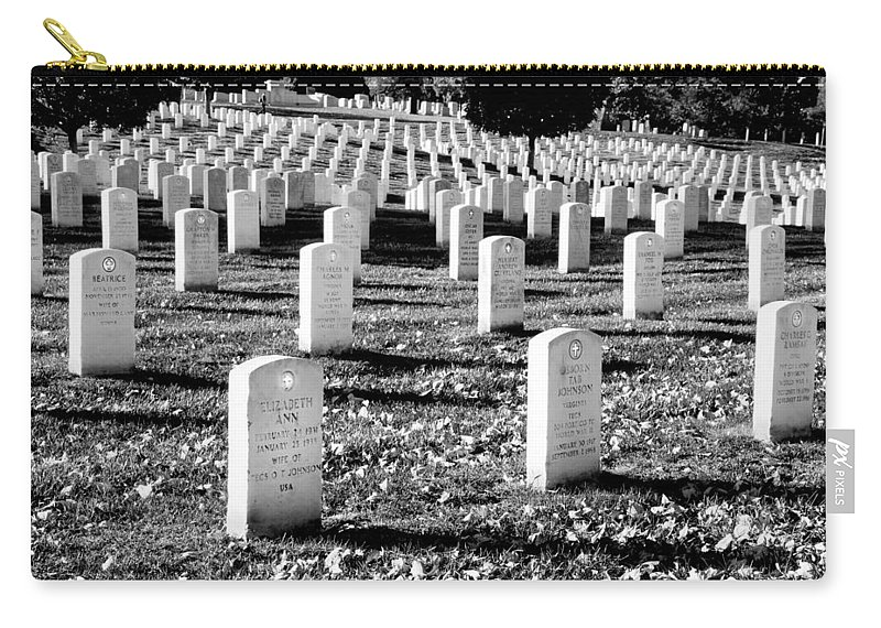 Arlington Cemetery Carry-all Pouch featuring the photograph Religion Never Dies by Greg Fortier