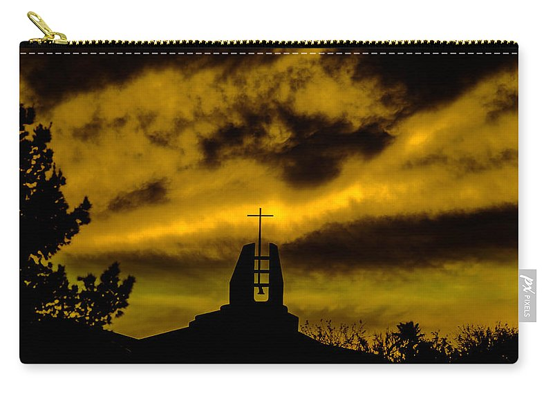 Religious Carry-all Pouch featuring the photograph Religious Moment by Michael Moriarty
