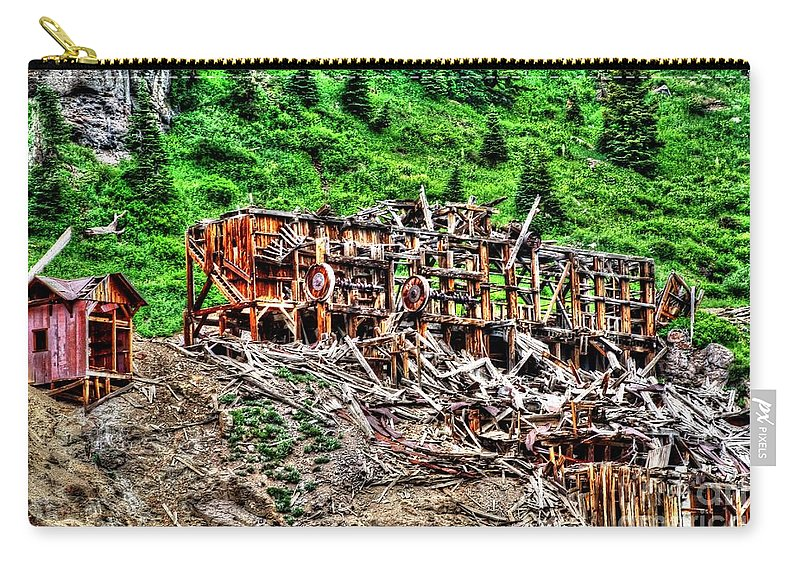 Colorado Carry-all Pouch featuring the photograph Remains by Bob Hislop