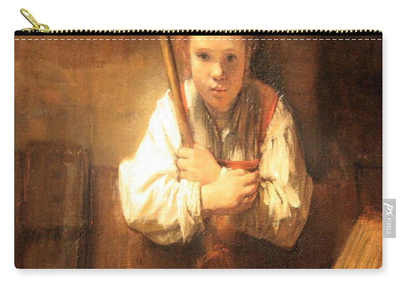 Rembrandt Workshops A Girl With A Broom Carry All Pouch For Sale By