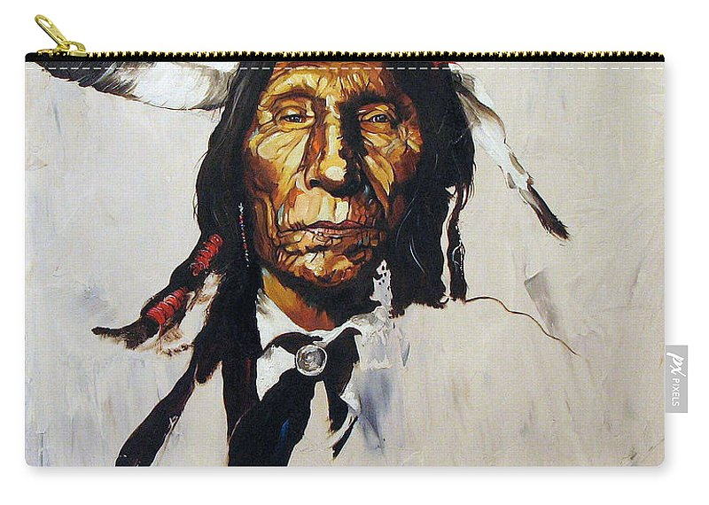 Southwest Art Carry-all Pouch featuring the painting Remember by J W Baker