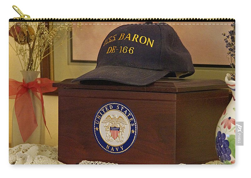 De-166 Carry-all Pouch featuring the photograph Remembering De-166 Uss Baron by Mick Anderson