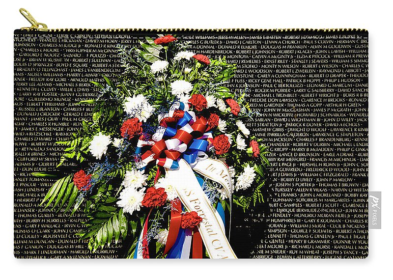 Arlington Cemetery Carry-all Pouch featuring the photograph Remembering Old Friends by Greg Fortier