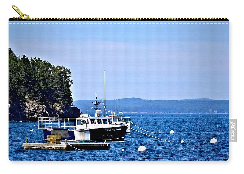 Remington Carry-all Pouch featuring the photograph Remington Lobster Boat by Tara Potts