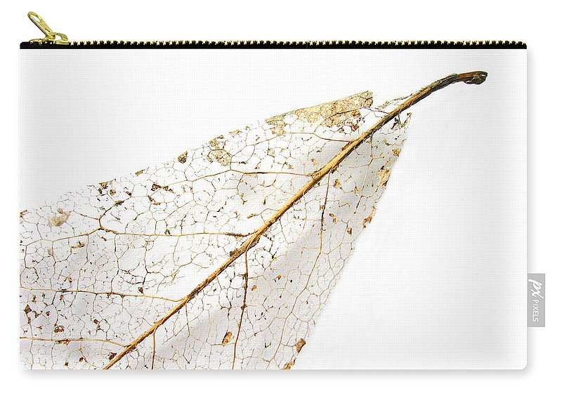 Leaf Carry-all Pouch featuring the photograph Remnant Leaf by Ann Horn