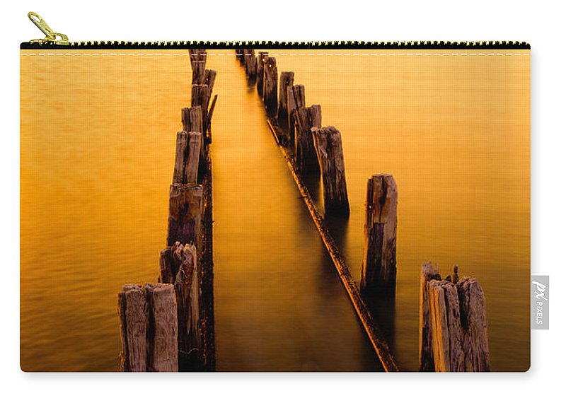 Remnants Carry-all Pouch featuring the photograph Remnants by Chad Dutson