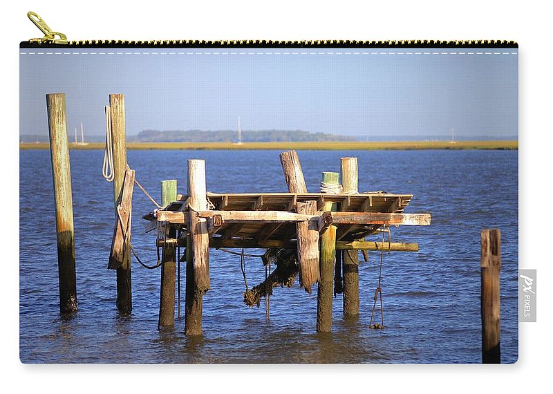 5662 Carry-all Pouch featuring the photograph Remnants by Gordon Elwell
