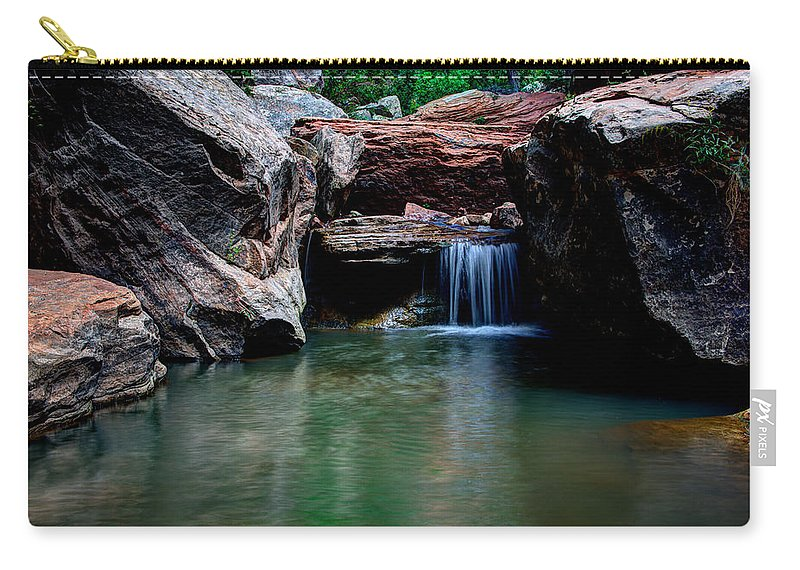Water Carry-all Pouch featuring the photograph Remote Falls by Chad Dutson