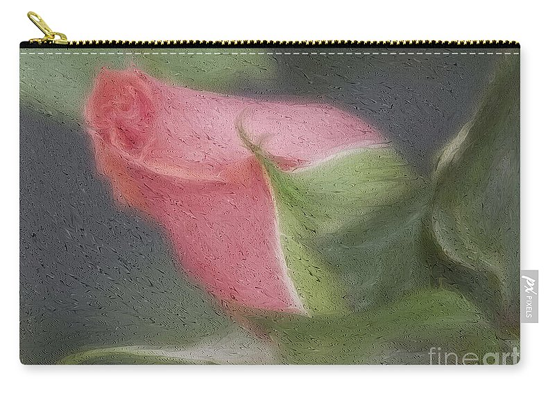 Rose Carry-all Pouch featuring the photograph Rendition Of A Rose by Deborah Benoit