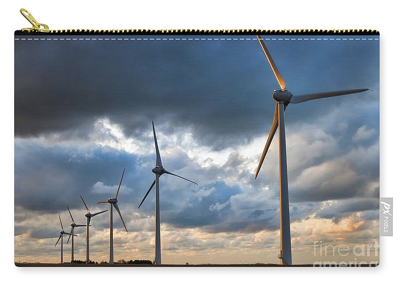 Windmill Carry-all Pouch featuring the photograph Renewable Energy by Olivier Le Queinec