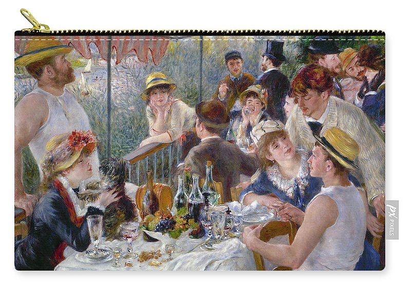 1880 Carry-all Pouch featuring the photograph Renoir: Luncheon, 1880-81 by Granger