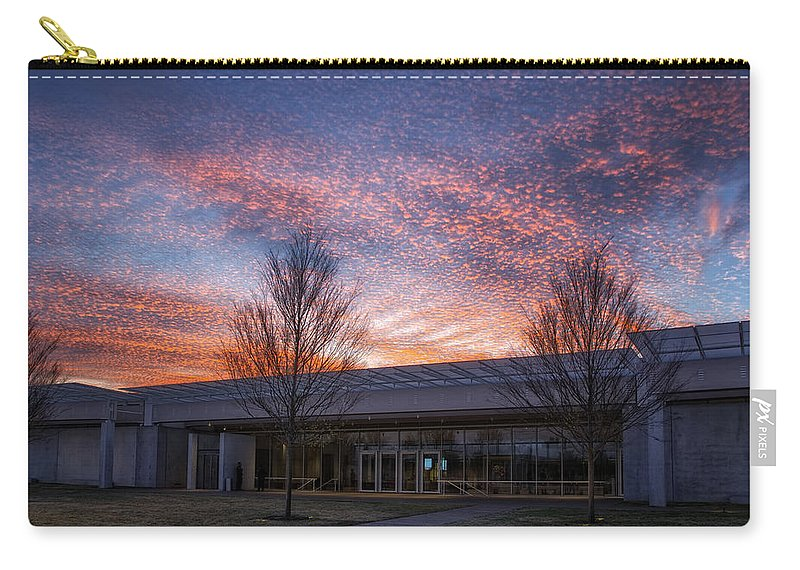 Joan Carroll Carry-all Pouch featuring the photograph Renzo Piano Pavilion by Joan Carroll