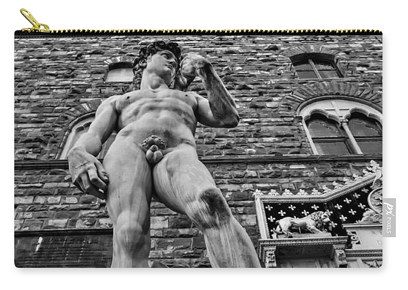 Architecture Carry-all Pouch featuring the photograph Replica by Maria Coulson