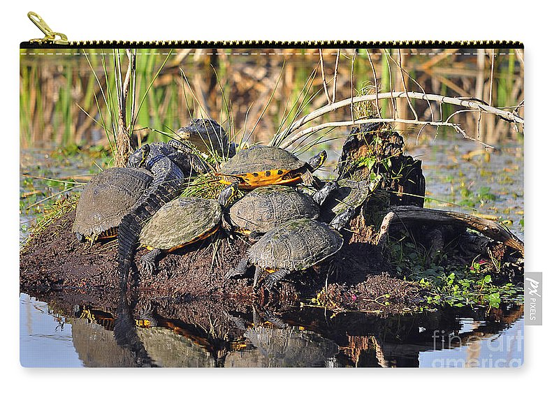 Turtle Carry-all Pouch featuring the photograph Reptile Refuge by Al Powell Photography USA