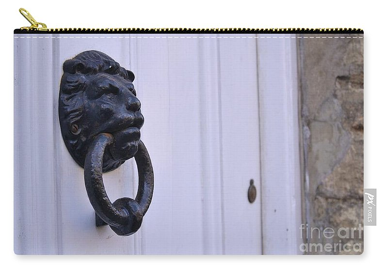 Door Carry-all Pouch featuring the photograph Request To Enter by Stephanie Guinn