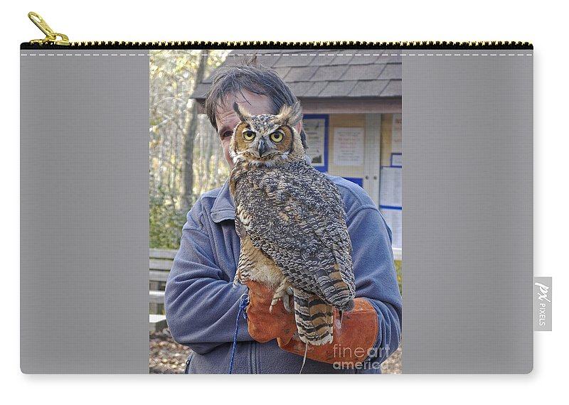 Owl Carry-all Pouch featuring the photograph Rescued by Ann Horn