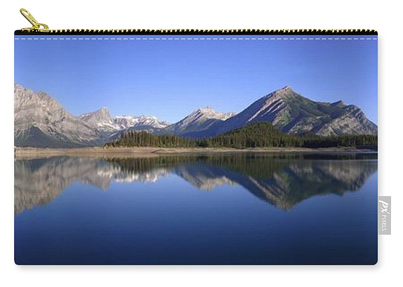 Water Carry-all Pouch featuring the photograph Sunrise Kananaskis Upper Lake Reflected - Panorama - Alberta by Ian Mcadie