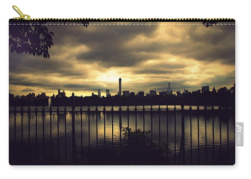 Pond Carry-all Pouch featuring the photograph Central Park Reservoir by Jessica Jenney