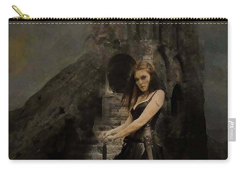 Mythology Carry-all Pouch featuring the digital art Respite Of Andraste - Fantasy by Galen Valle