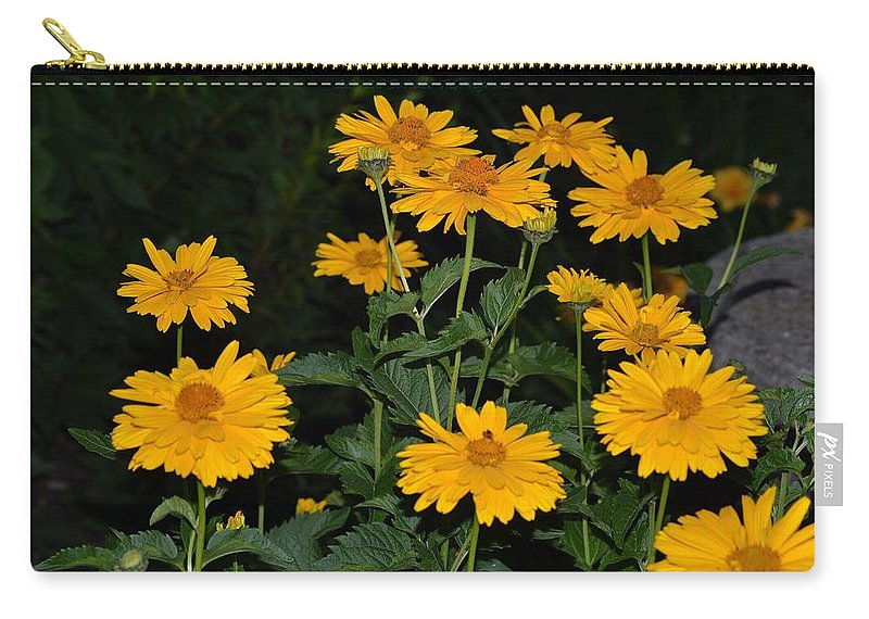 Yellow Beauty Carry-all Pouch featuring the photograph Resplendent Yellows by Sonali Gangane