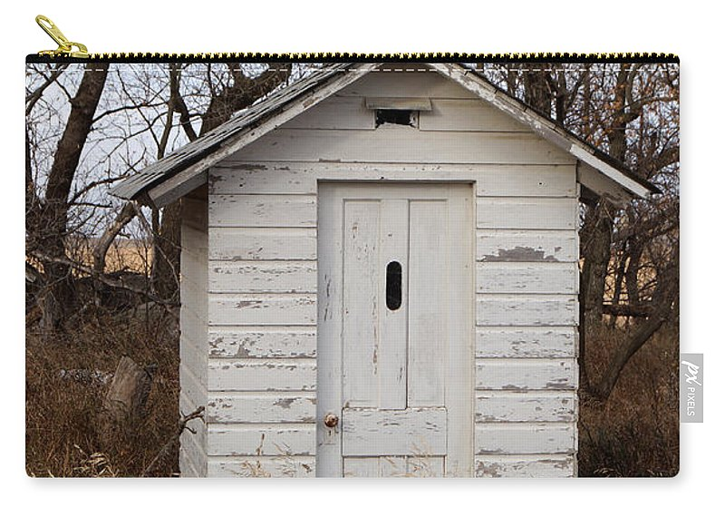 Outhouse Carry-all Pouch featuring the photograph Rest Stop by Lori Tordsen