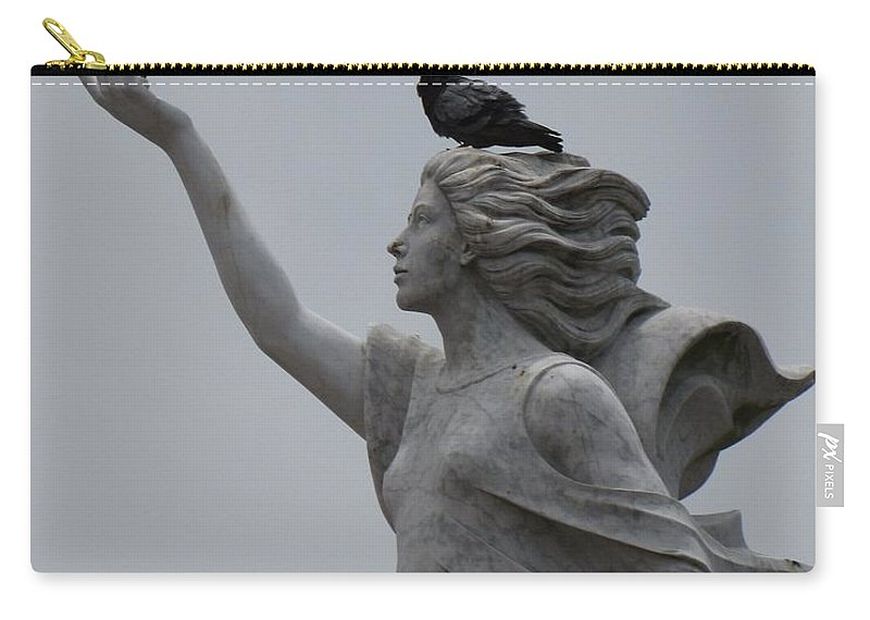 Statue Carry-all Pouch featuring the photograph Resting by Beth Vincent