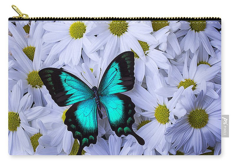 Beautiful Carry-all Pouch featuring the photograph Resting On A Mum by Garry Gay