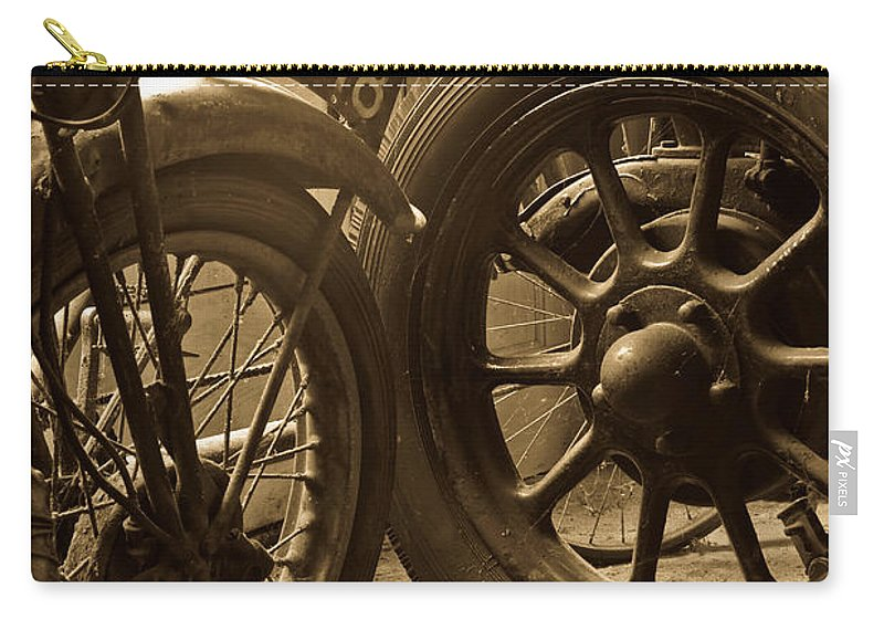 Motorbike Carry-all Pouch featuring the photograph Retired by Brian Roscorla