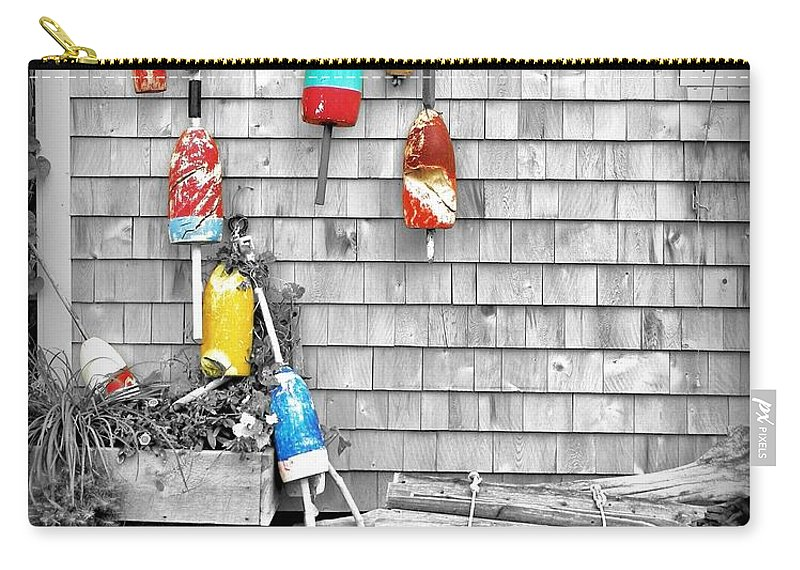 Buoys Carry-all Pouch featuring the photograph Retired Buoys by Jean Goodwin Brooks