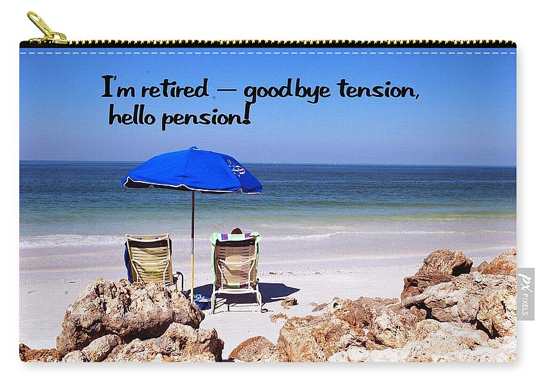 Retire Carry-all Pouch featuring the photograph Retired by Gary Wonning
