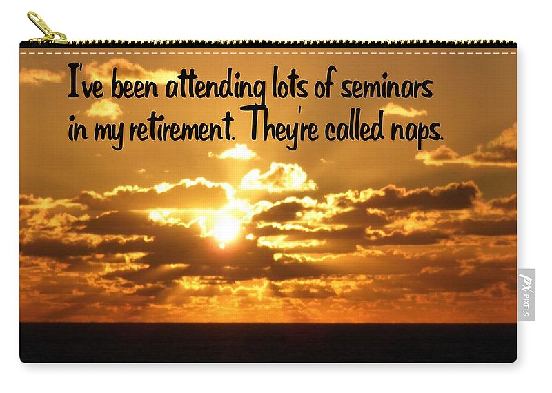 Retirement Carry-all Pouch featuring the photograph Retirement by Gary Wonning