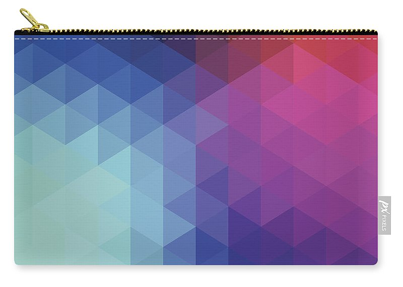 Triangle Shape Carry-all Pouch featuring the digital art Retro Hexagon Abstract Background by Mustafahacalaki