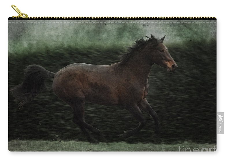 Horse Carry-all Pouch featuring the photograph Retro Horse by Angel Ciesniarska