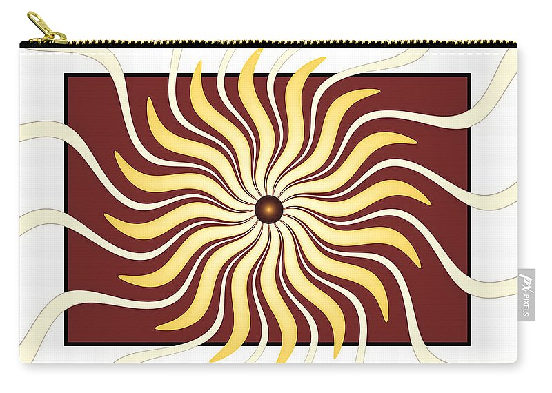 Retro Carry-all Pouch featuring the digital art Retro Is Now by Gabiw Art