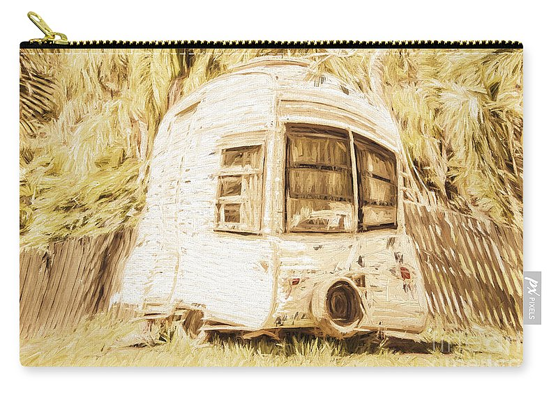 Caravan Carry-all Pouch featuring the photograph Retrod The Comic Caravan by Jorgo Photography - Wall Art Gallery